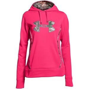 UNDER ARMOUR bright pink sweatshirt with camp